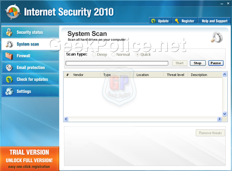 Internet Security 2010 Screenshot